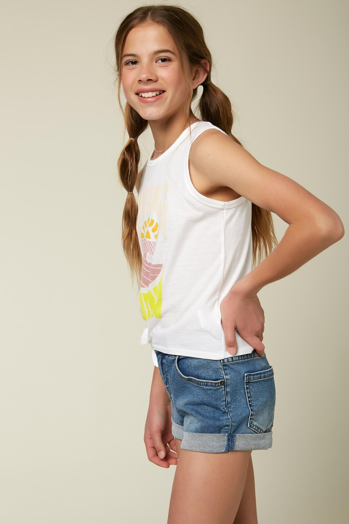 Girls Reecey Tank - White | O'Neill