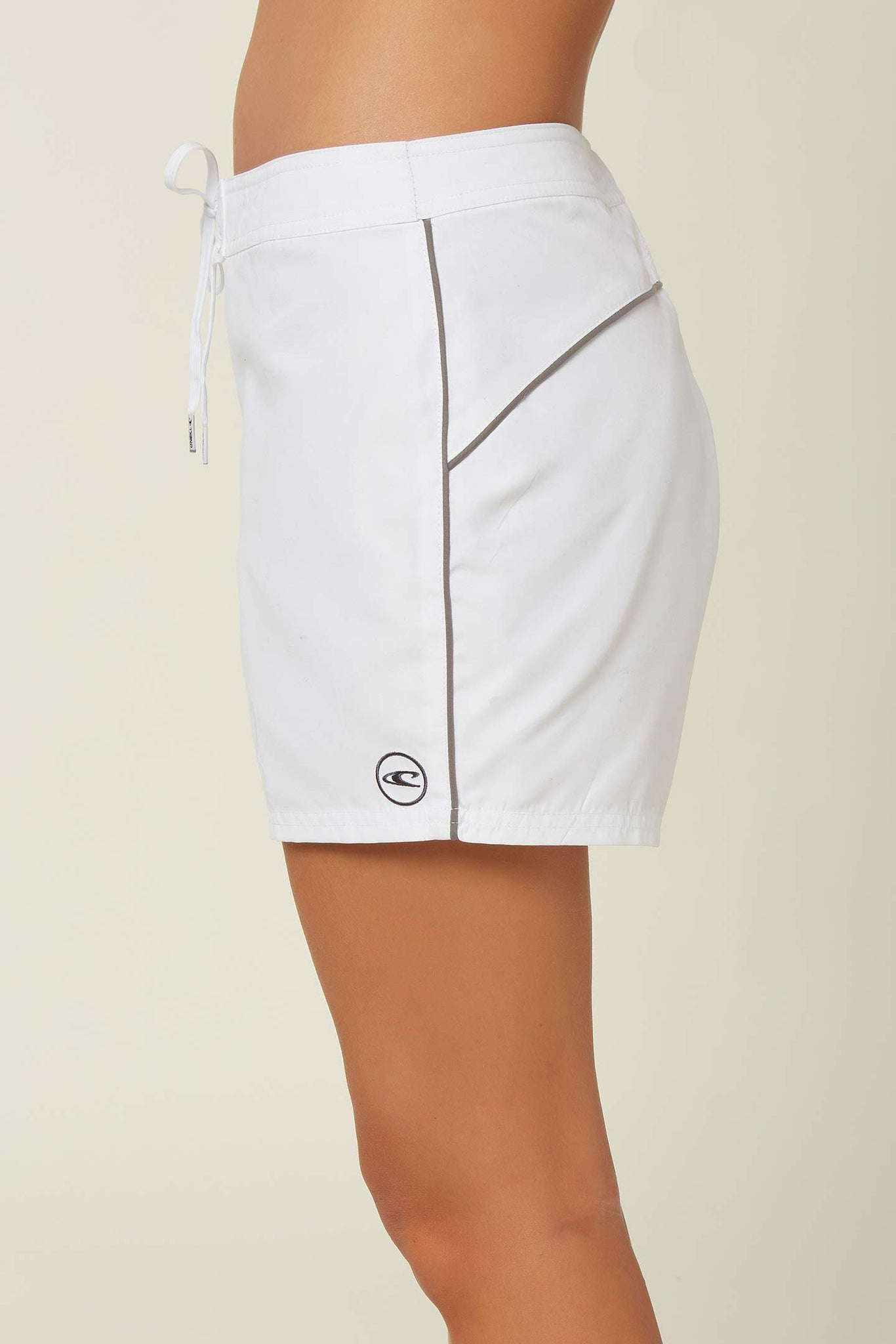 "Saltwater Solids 5"" Boardshorts - White 
