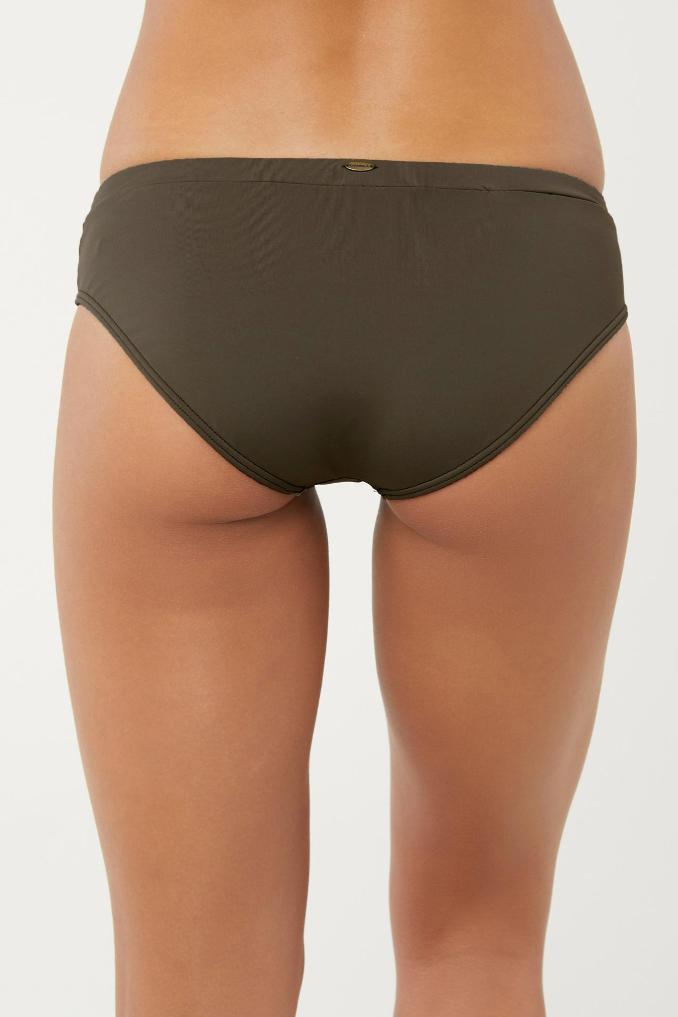 Saltwater Solids Banded Bottoms - Olive | O'Neill