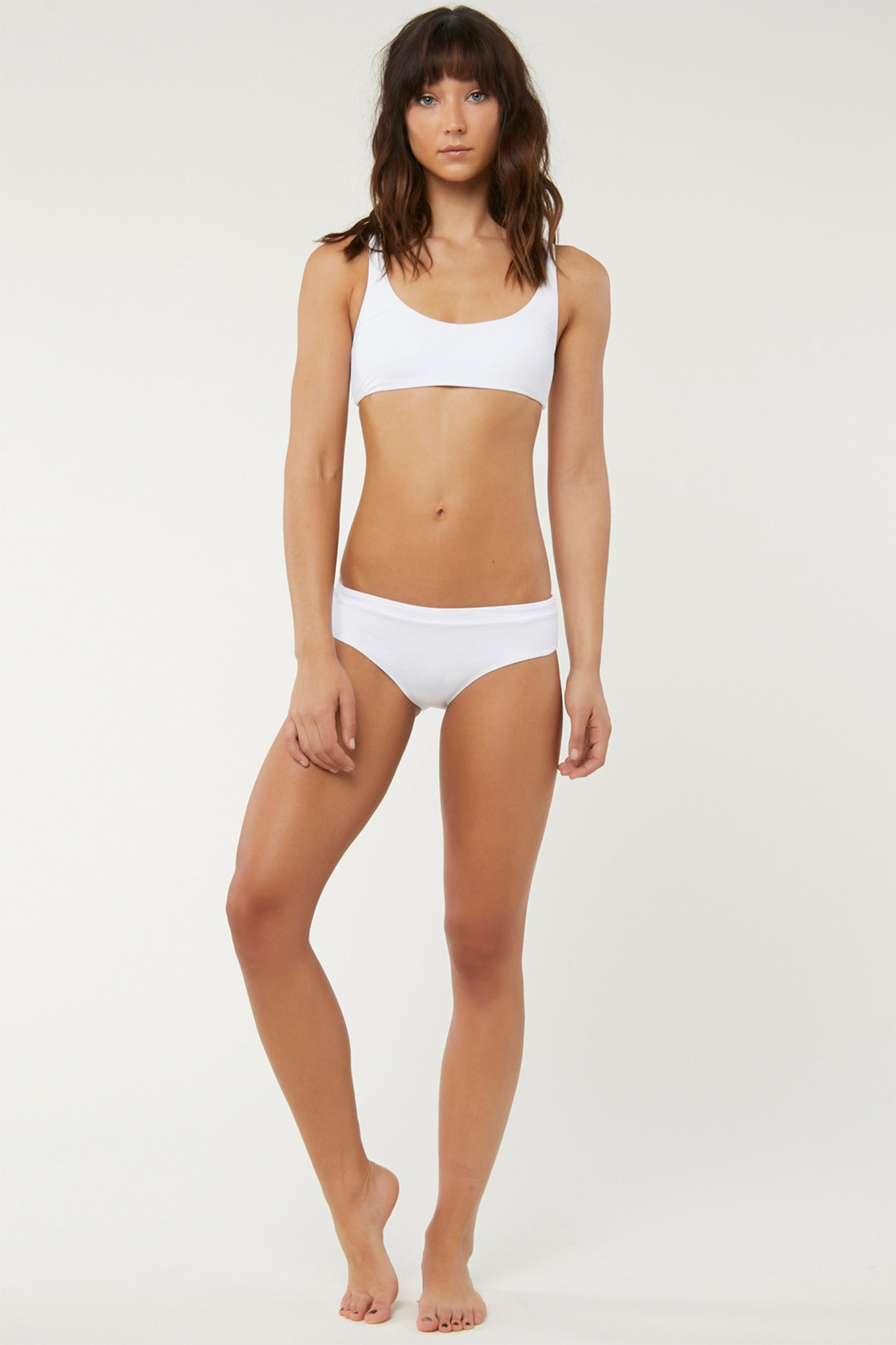 Saltwater Solids Banded Bottoms - White | O'Neill