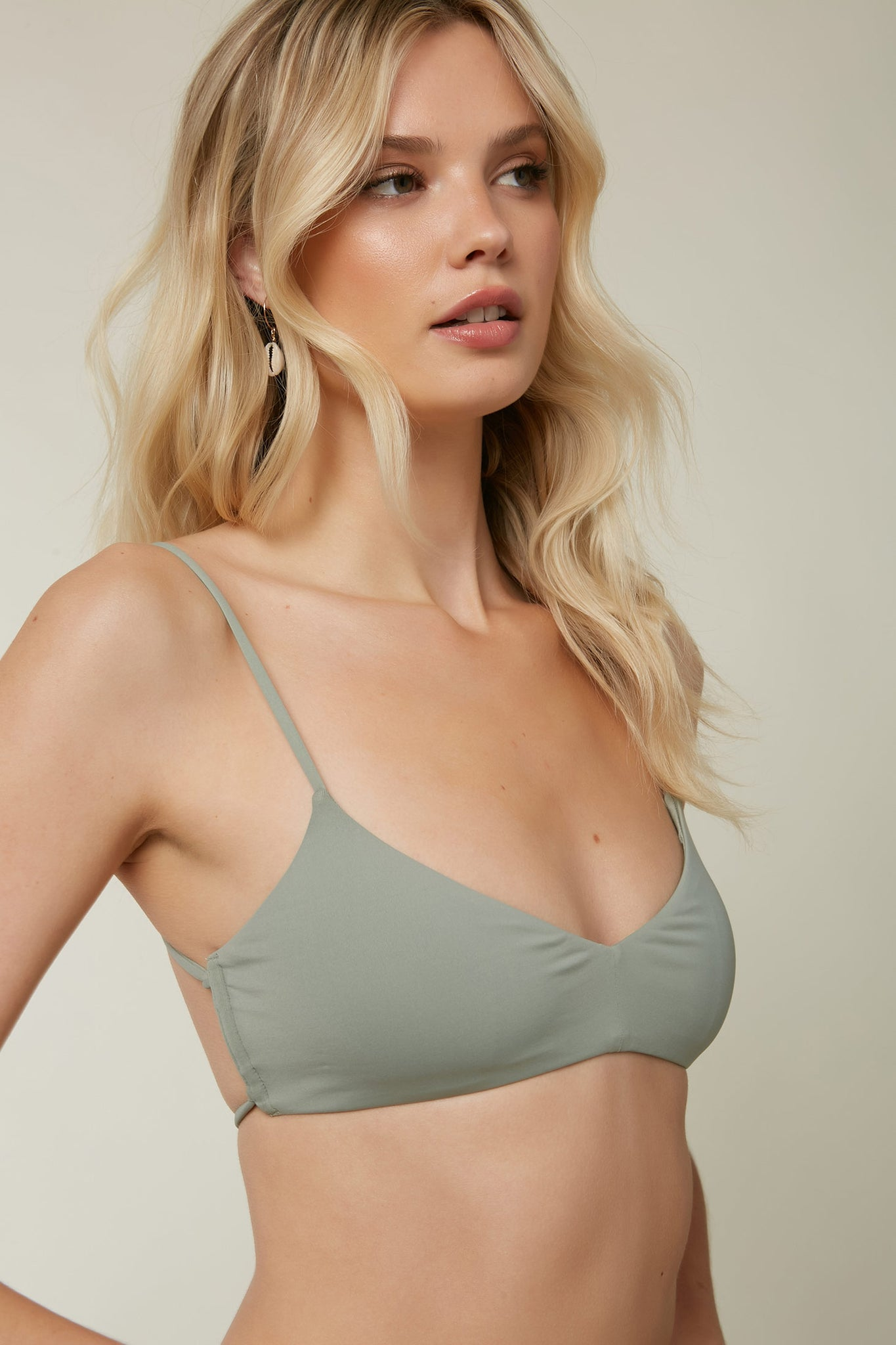 Saltwater Solids Bralette Top - Fog | O'Neill