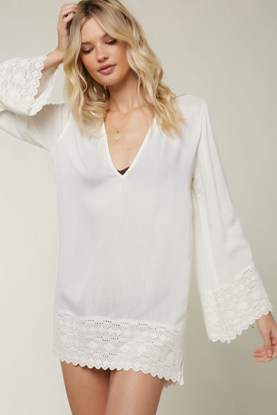 SALT WATER SOLIDS DRESS COVER-UP
