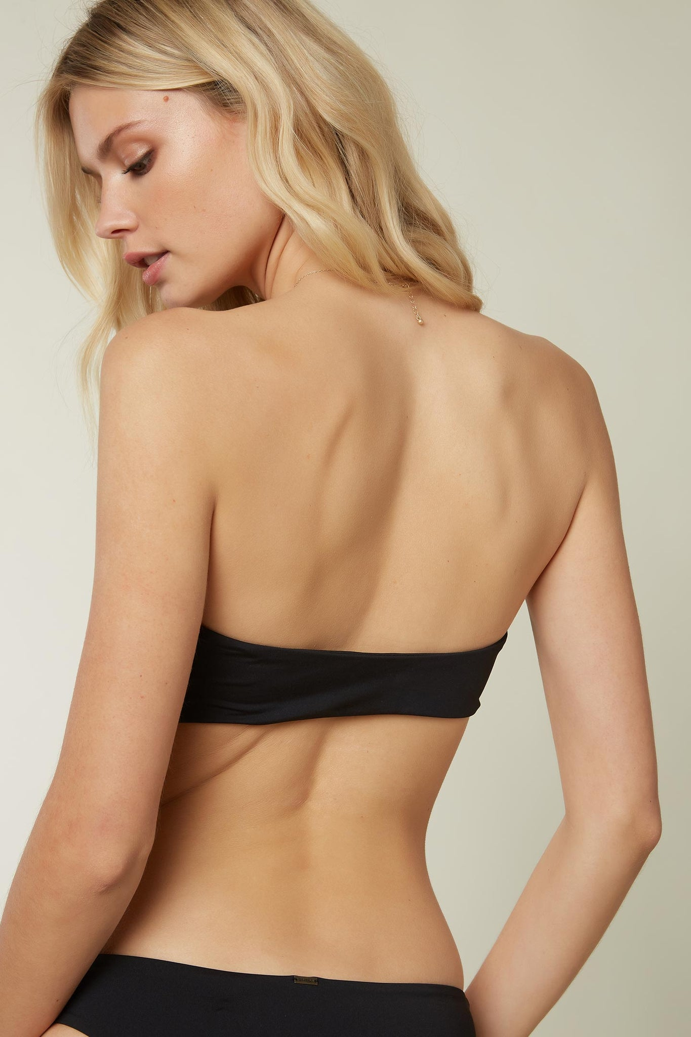 Saltwater Solids Knot Bandeau Top - Black | O'Neill