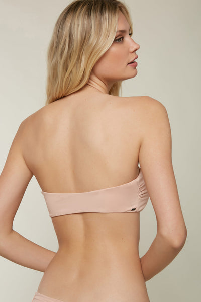SALT WATER SOLIDS KNOT BANDEAU TOP