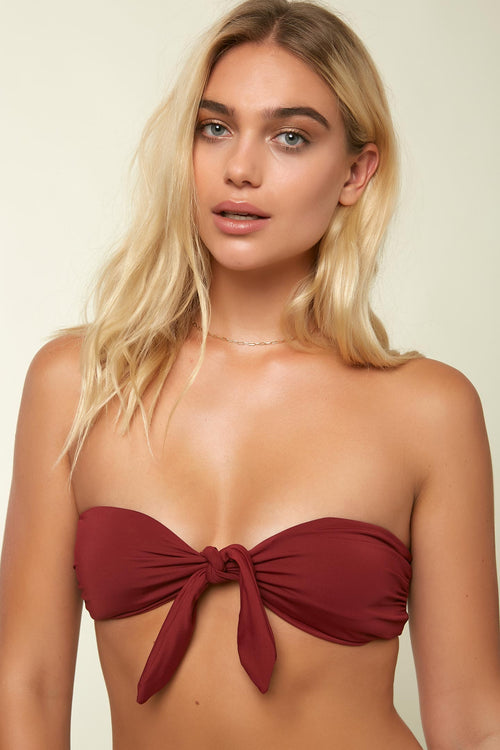 SALT WATER SOLIDS KNOT BANDEAU