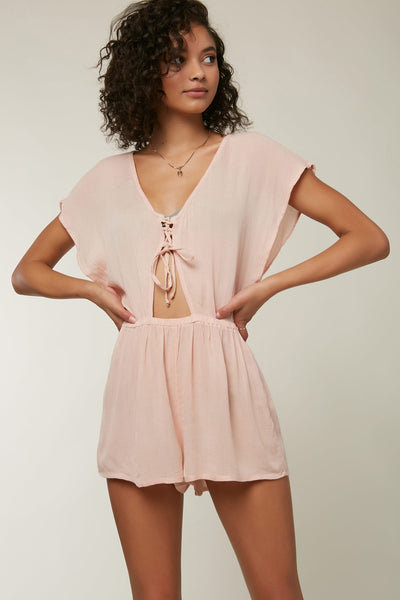 Salt Water Solids Lace Up Romper Cover-Up | O'Neill Clothing USA