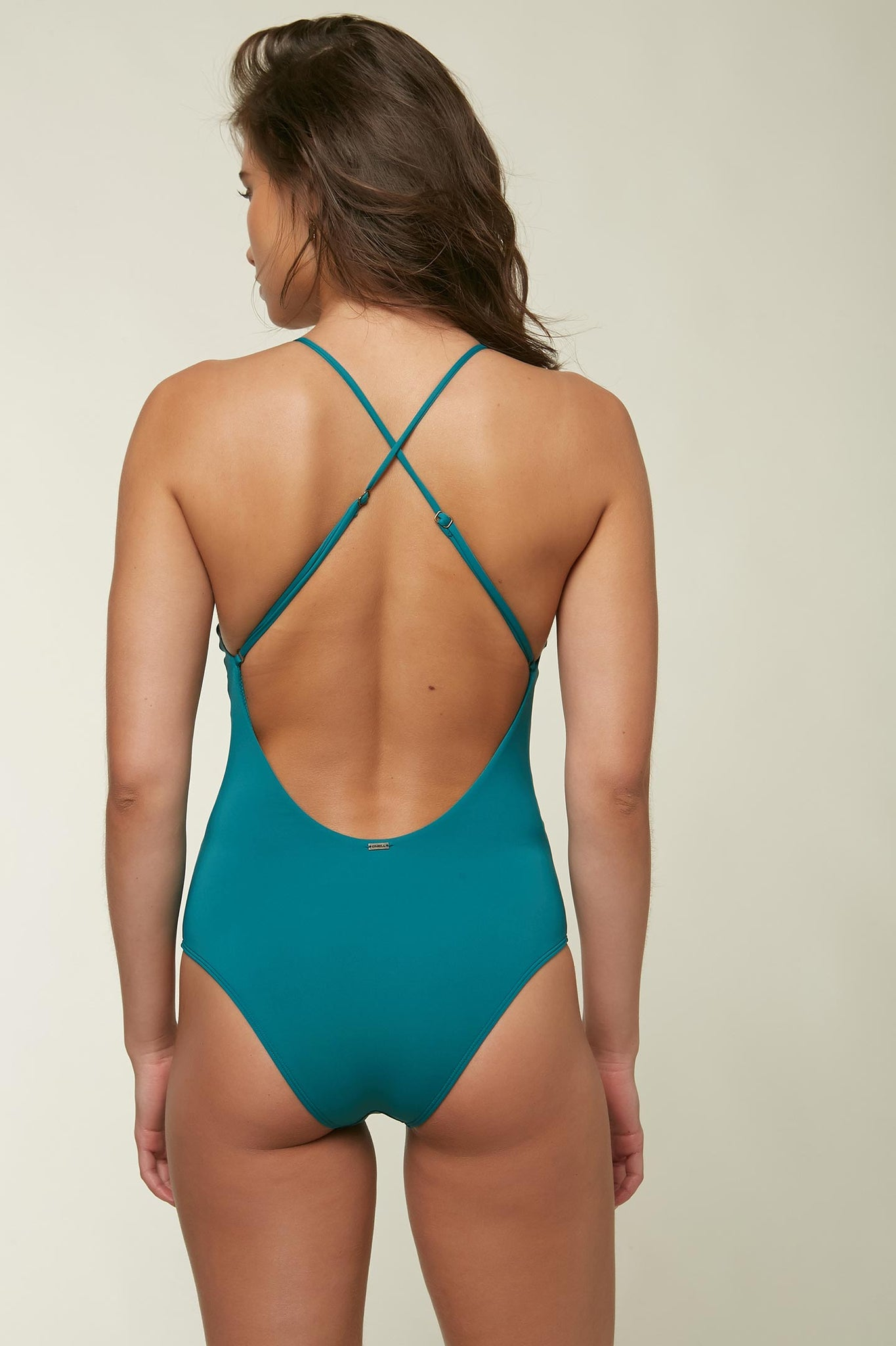 Saltwater Solids Cheeky One Piece - Teal Green | O'Neill