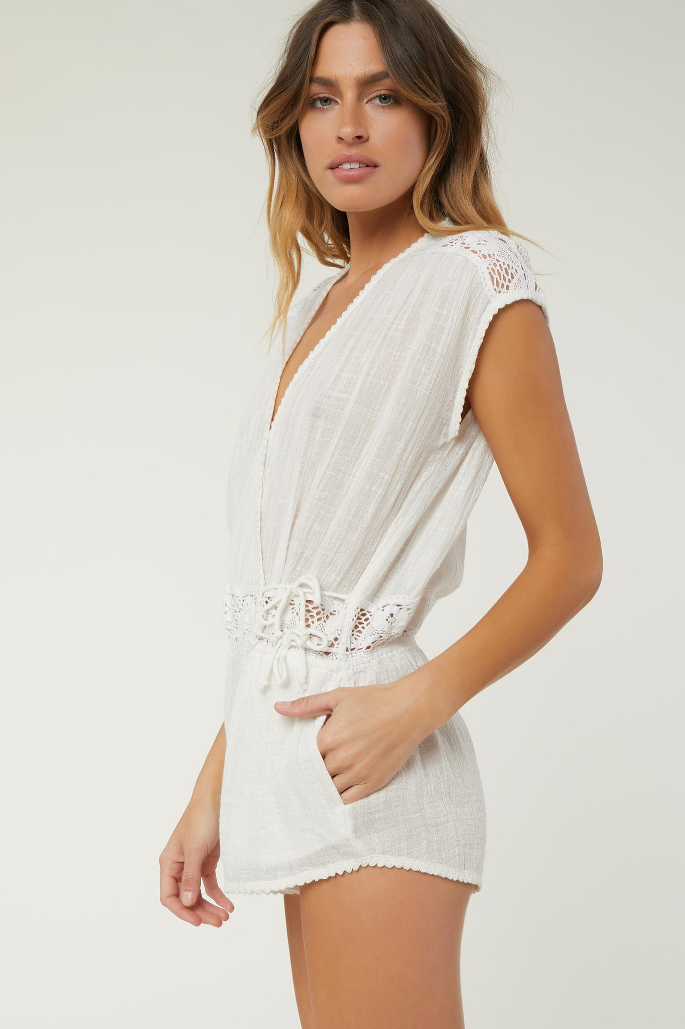 Saltwater Solids Cover-Up Romper | O'Neill Clothing USA