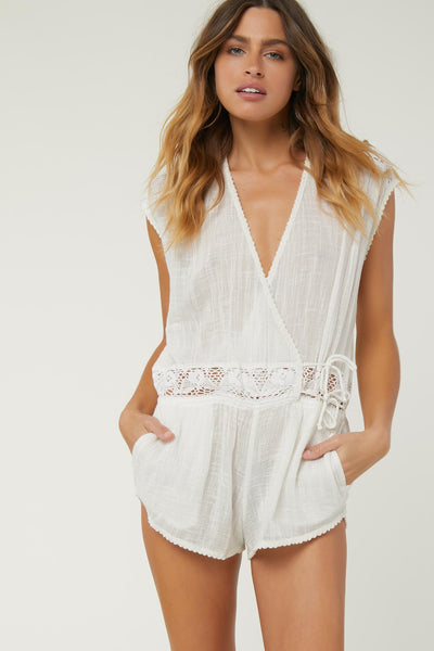 SALT WATER SOLIDS COVER-UP ROMPER