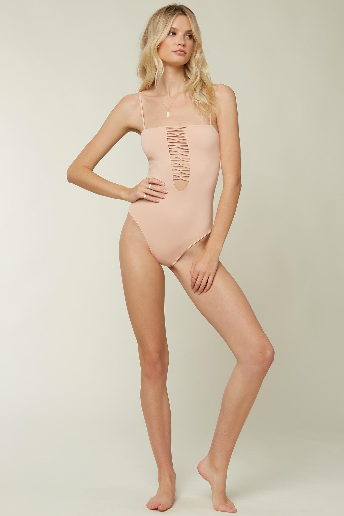 Saltwater Solids Strappy One Piece - Bisque | O'Neill
