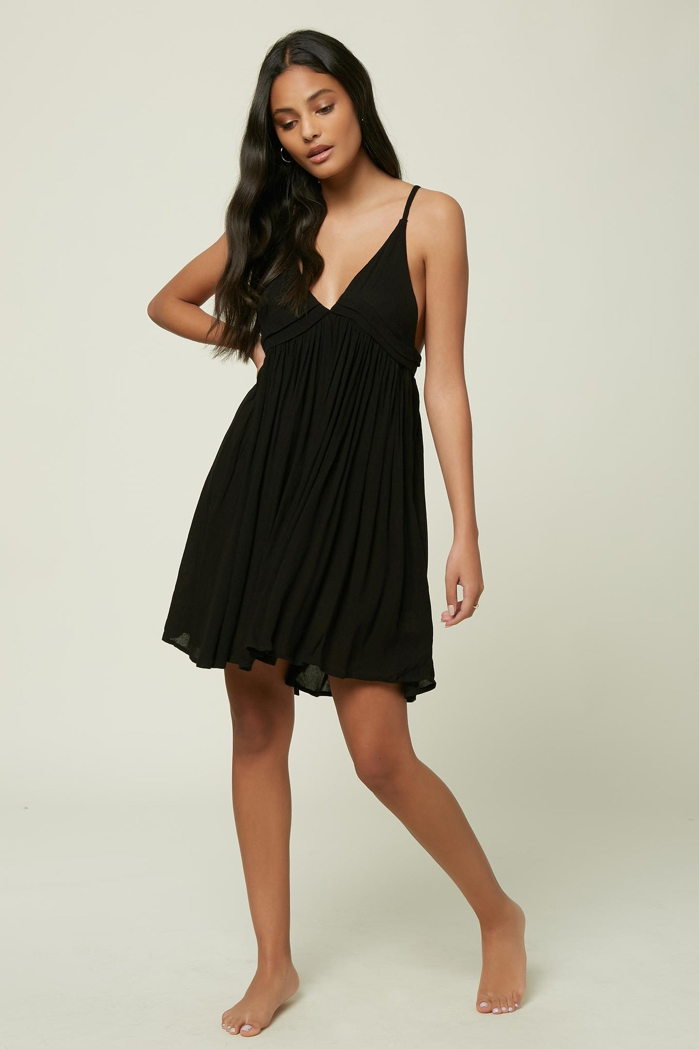 Saltwater Solids Tank Dress Cover-Up - Black | O'Neill