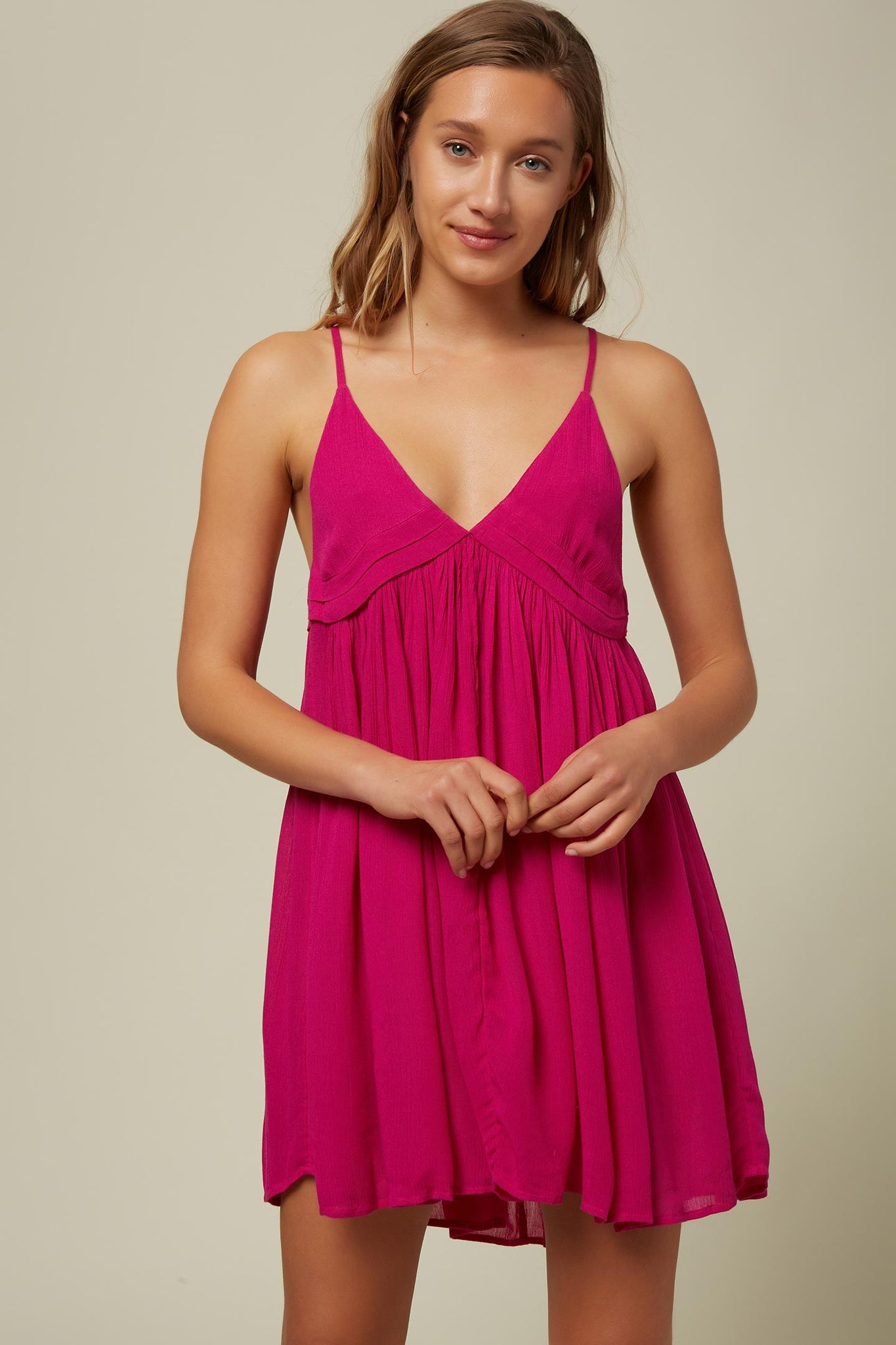 Saltwater Solids Tank Dress Cover-Up - Neon Pink | O'Neill