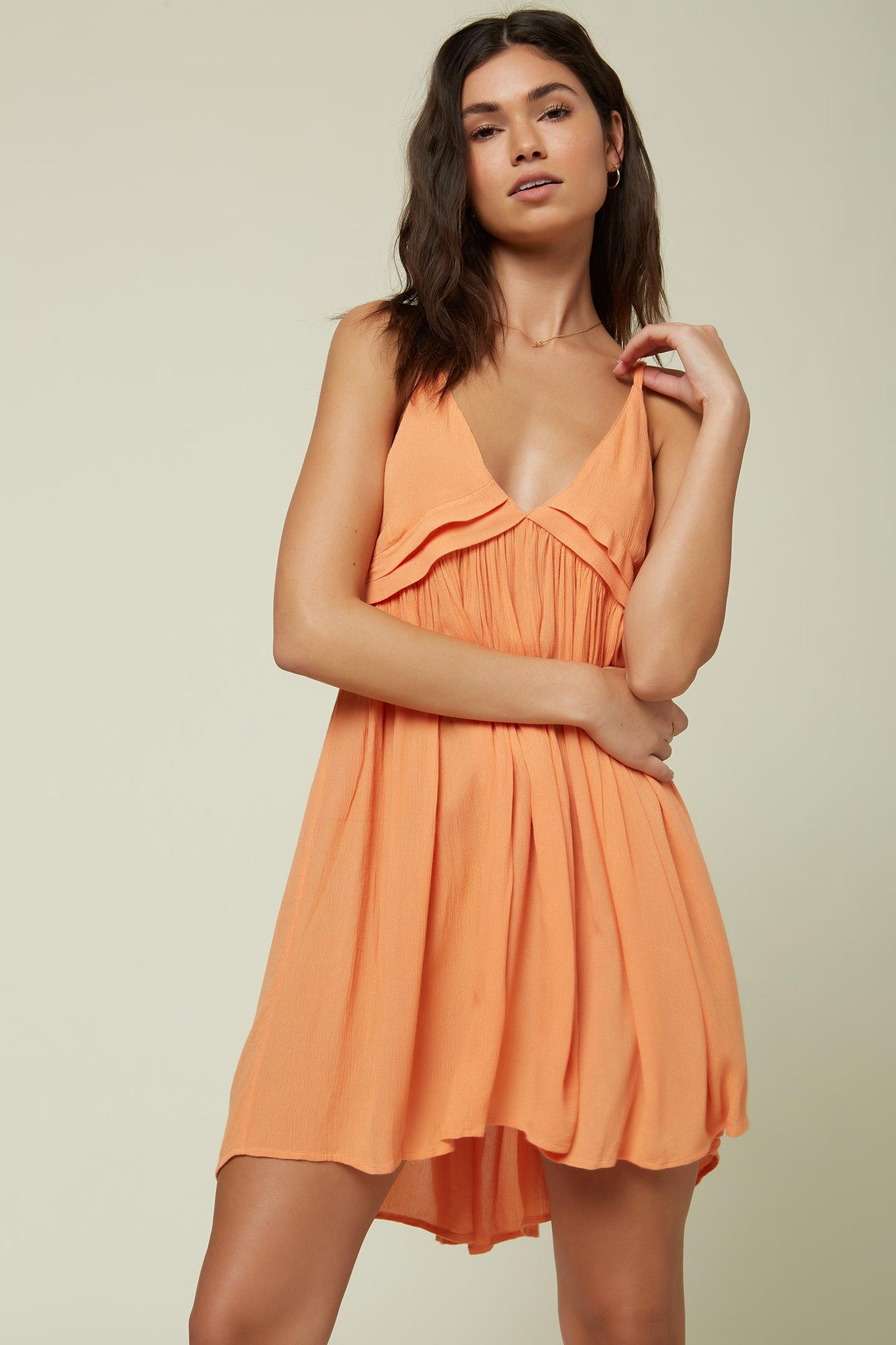 Saltwater Solids Tank Dress Cover-Up - Melon | O'Neill