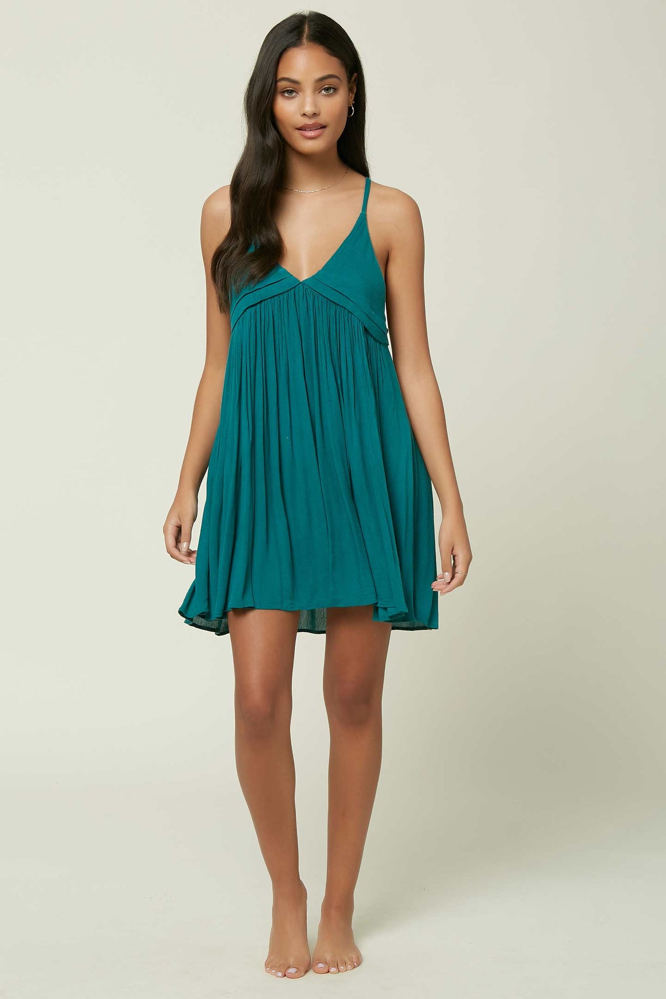 Saltwater Solids Tank Dress Cover-Up - Teal Green | O'Neill