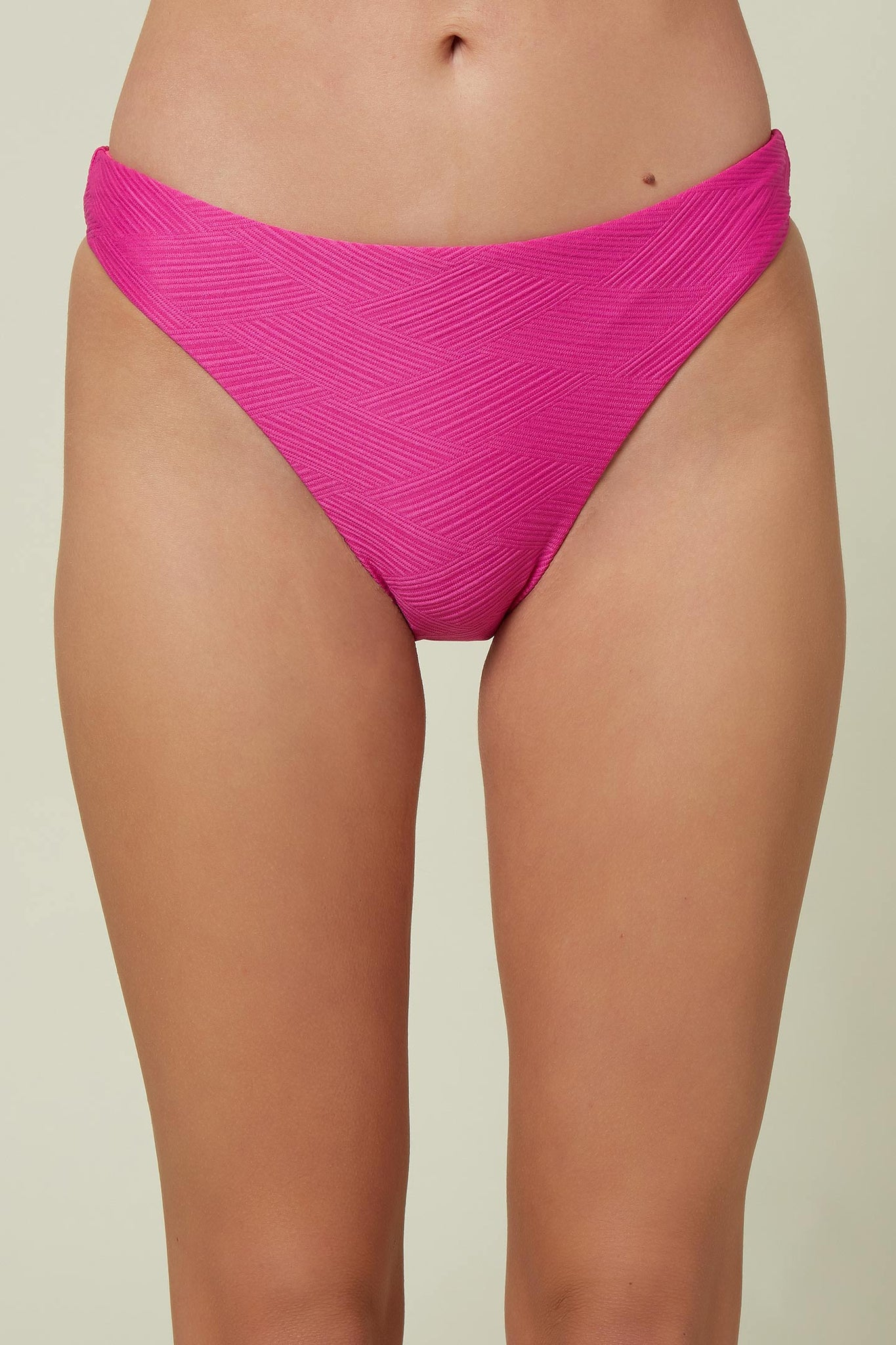 Saltwater Solids Textured Hi-Leg Bottoms - Neon Pink | O'Neill