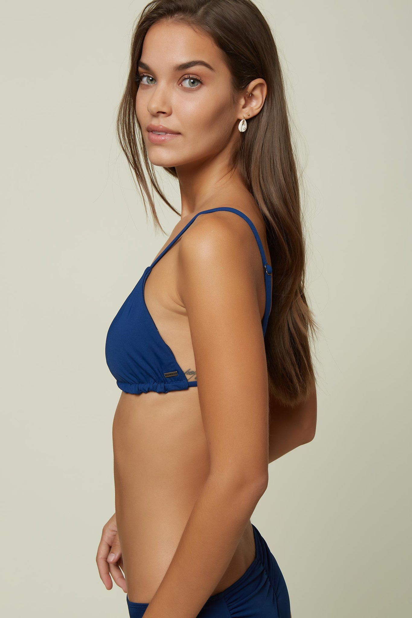 Saltwater Solids Tunnel Bralette Top - Navy | O'Neill