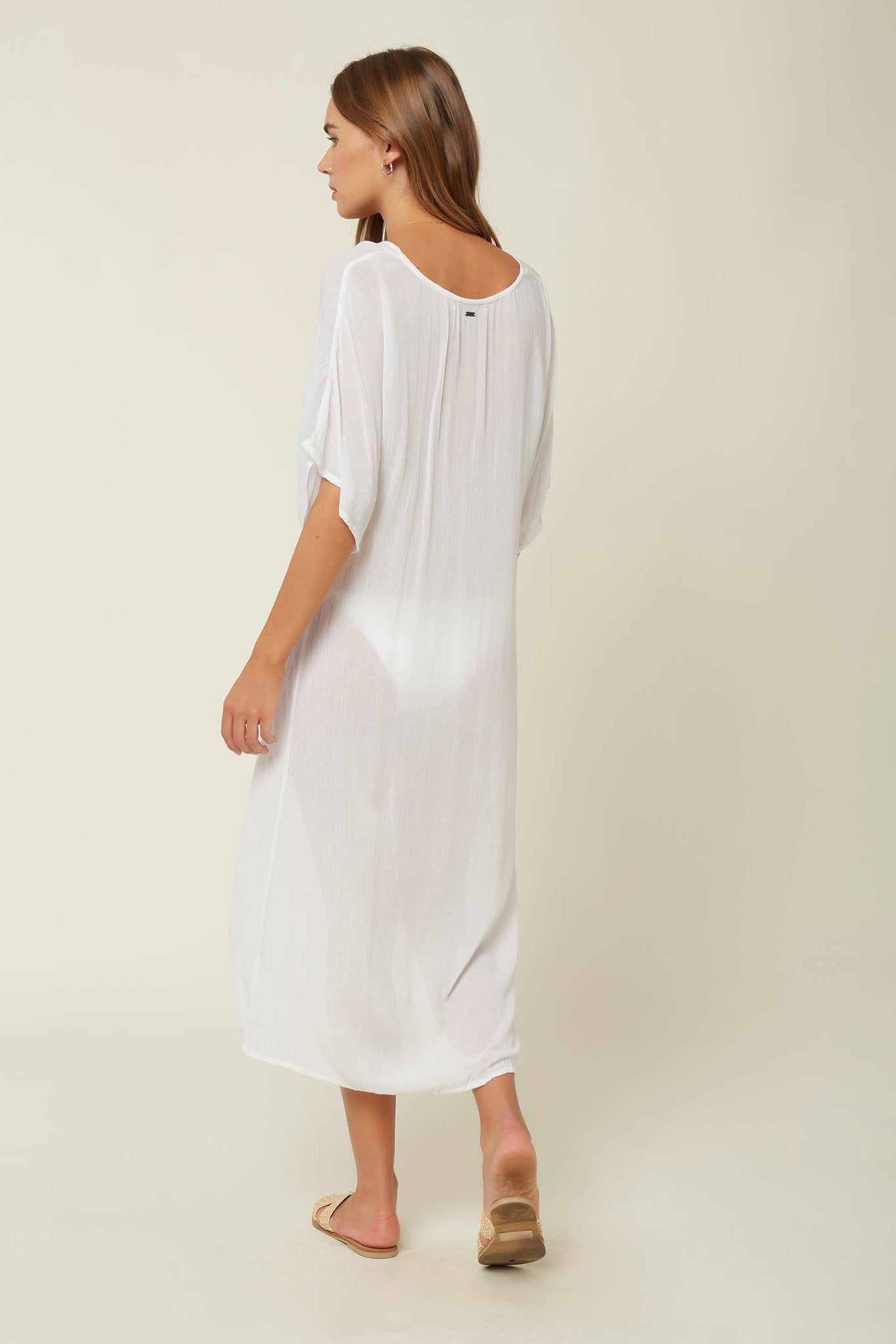 Saltwater Solids Twist Midi Coverup - White | O'Neill