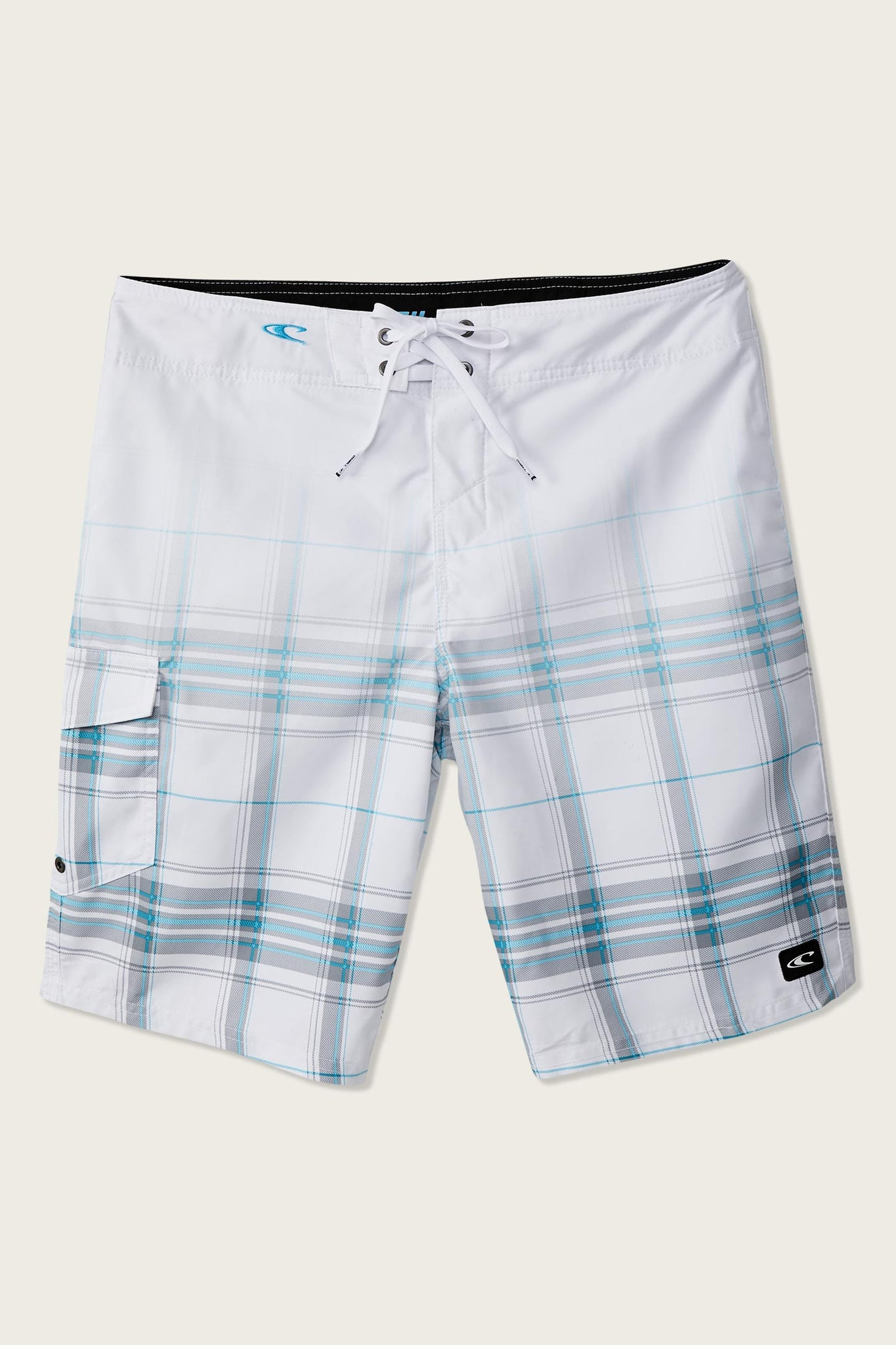 Santa Cruz Plaid Boardshorts - White | O'Neill