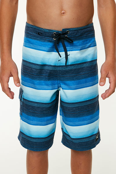 BOYS SANTA CRUZ STRIPE BOARDSHORTS