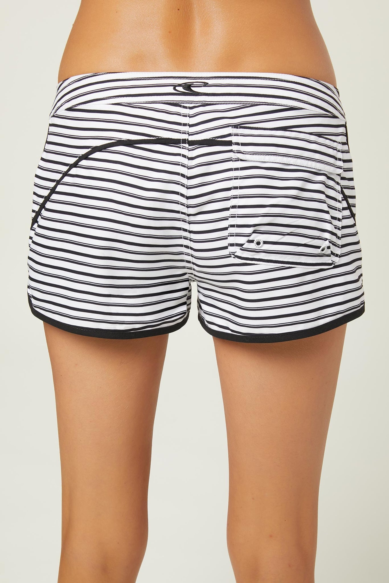 "Sea Level 3"" Boardshorts - White W/ Black 