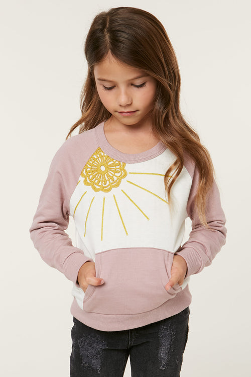 LITTLE GIRLS SOL SWEATER