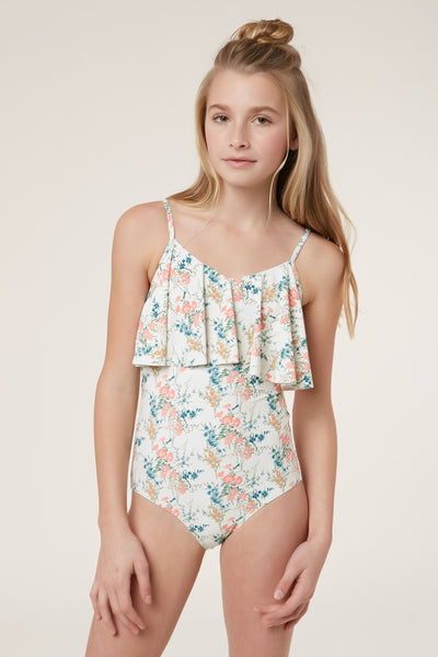 GIRLS SUNDAY FLORAL ONE PIECE