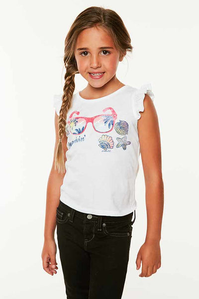 LITTLE GIRLS SUNNIES TANK
