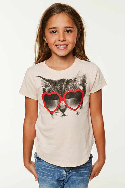 LITTLE GIRLS TABBY TEE