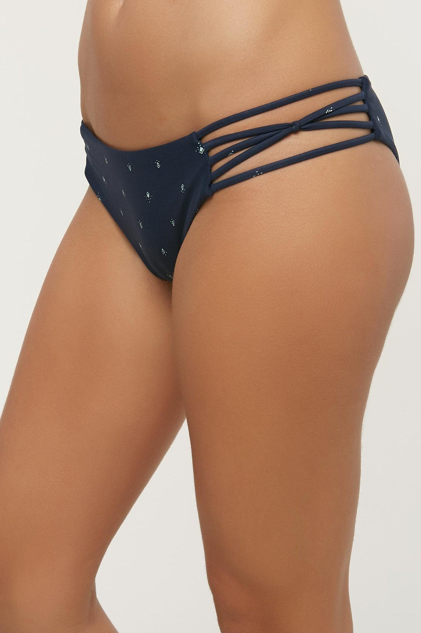 Tribal Tracker Strappy Hipster Bottoms - Navy | O'Neill