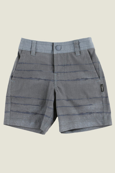 LITTLE BOYS TYE STRIPER HYBRID SHORTS