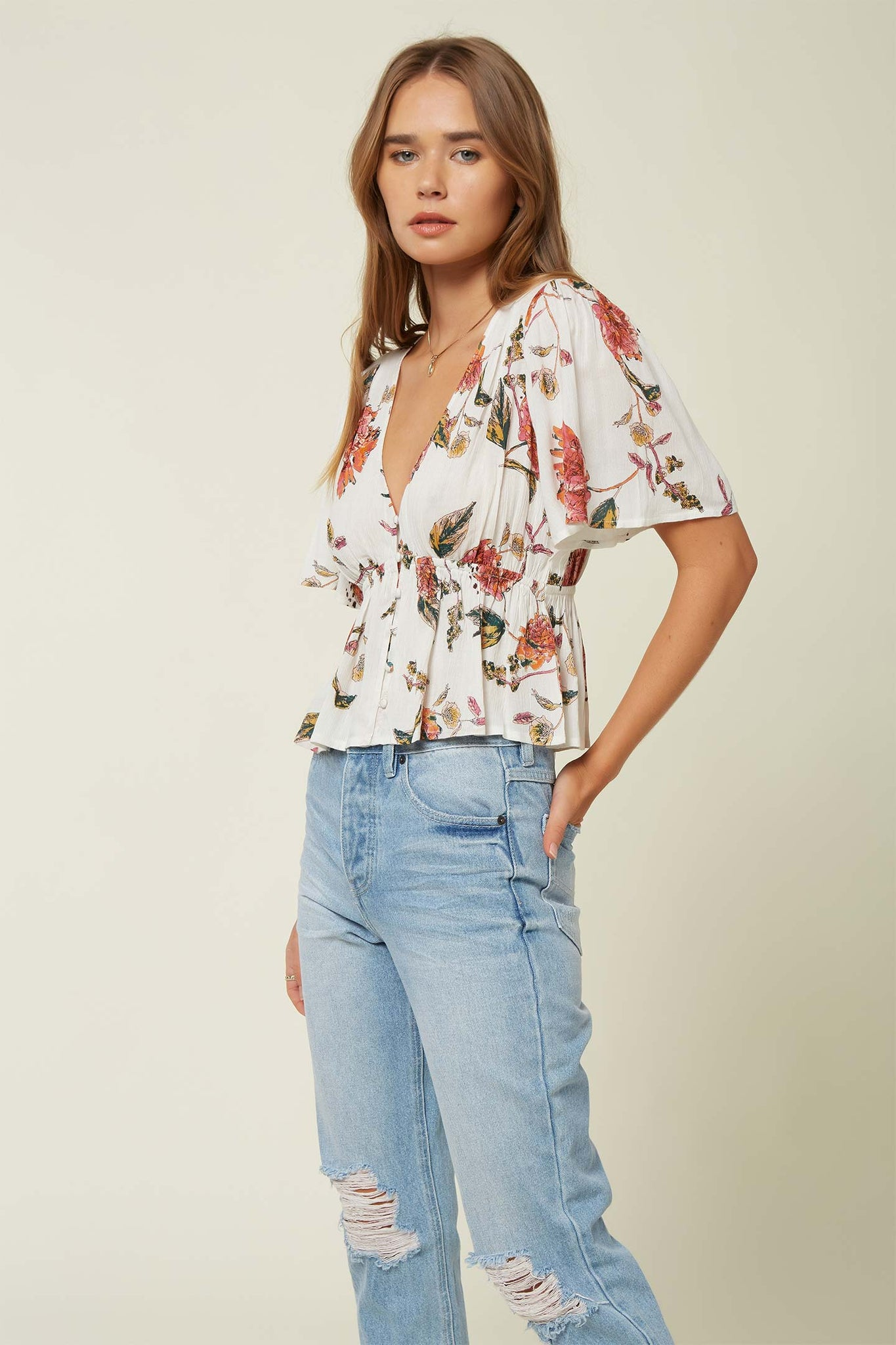 Wes Floral Top - Winter White | O'Neill