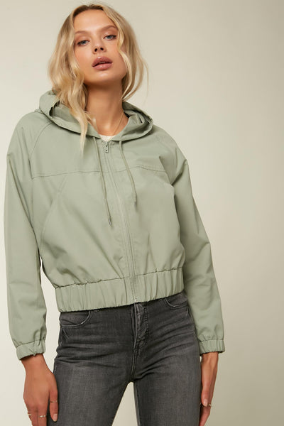 WHIRL ZIP UP HOODED JACKET