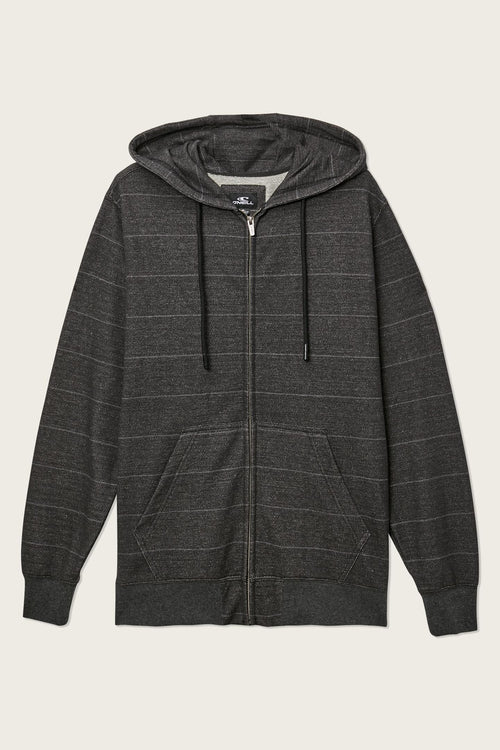 WHITECHAPEL STRIPE ZIP UP HOODIE
