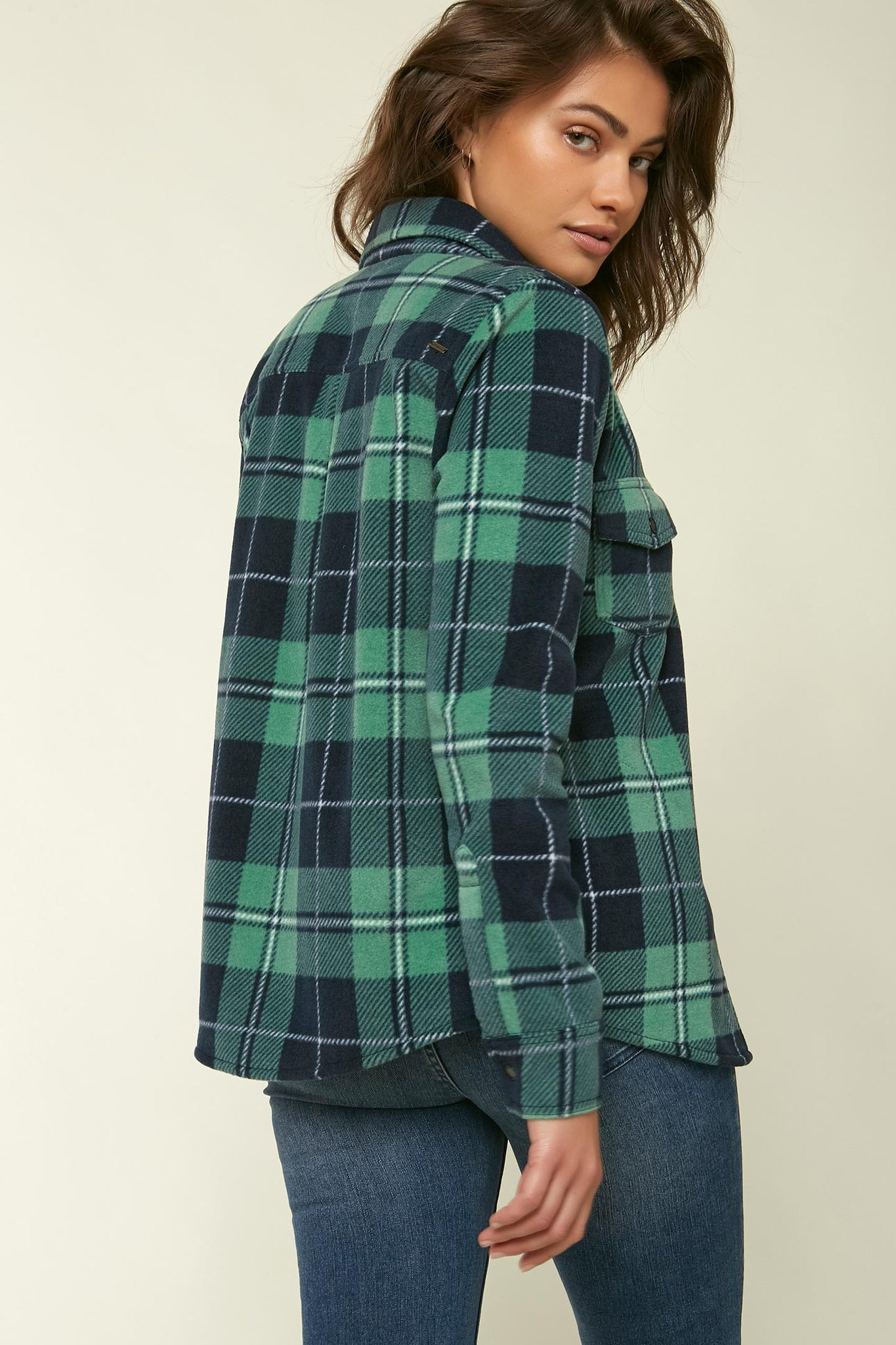 Zuma Superfleece Flannel Top - Washed Spruce | O'Neill