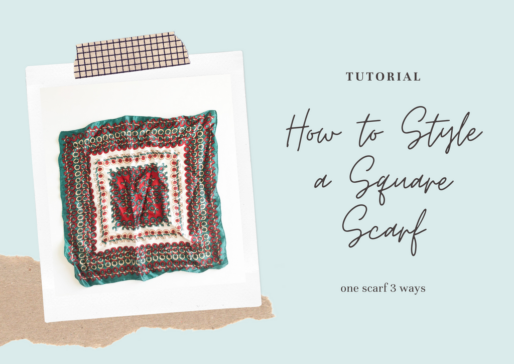 How to Style a Square Scarf