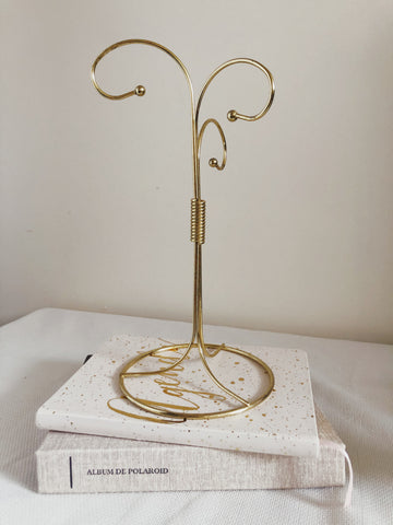 3 Tier Brass Jewelry Stand