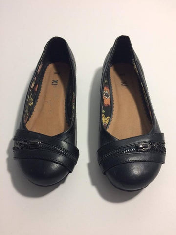 Taxi Black Zipper Flats - Le Prix Fashion & Consulting