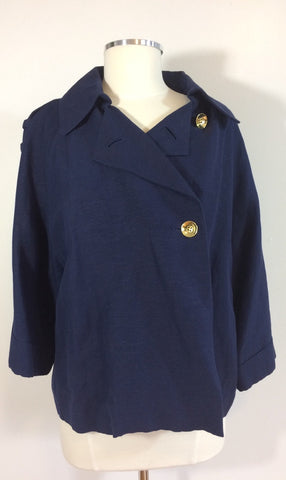 Emma Navy Linen Jacket - Le Prix Fashion & Consulting