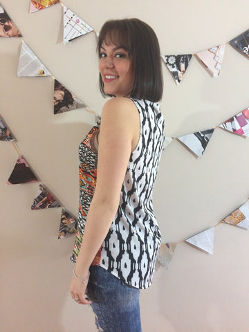 Brittania Patterned Sleeveless Top