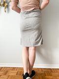 Dorothy Perkins Grey Stretch Pencil Jersey Skirt - UK 14 / US Large
