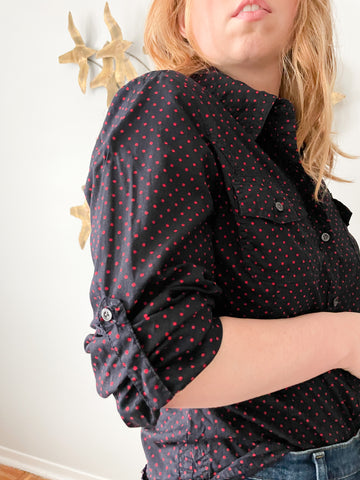 Studio Made in Canada Black Stretch Pencil Skirt - XL