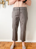 RW & Co. Grey Cotton Stretch Straight Leg Mid Rise Cropped Pants - Size 10