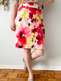 RW & Co. Bold Multi Floral Mini Pencil Skirt - Size 10