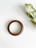 Real Wooden Engraved Bangle Bracelet