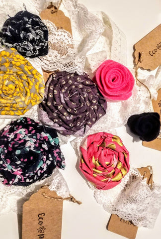 Lace Headband Hair Bow Upcycled by Eco Pretty - Le Prix Fashion & Consulting