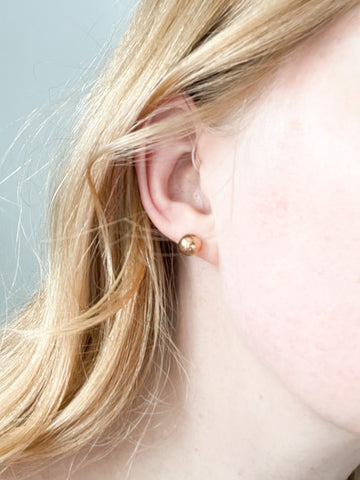 Minimalist Gold Ball Stud Earrings