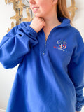 Vintage Walt Disney World Blue Fleece 1/3 Zip Pullover Sweater - S/M/L/XL