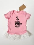 Pink Latte with Lace Tutu Eco Pretty Reimagined Pet Shirt