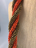 Lorde Bronze Orange Beaded Necklace - Le Prix Fashion & Consulting