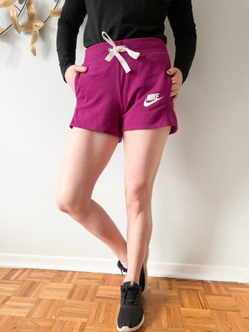 Nike Purple High Rise Shorts with Pockets - S/M